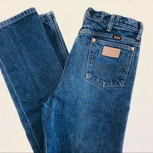 WRANGLER Mens 35 x 36 Straight Relaxed Blue Jeans